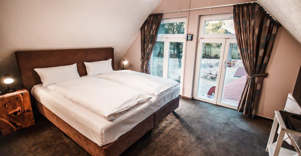 Das Zimmer Golfblick im Hotel Kahltalmühle