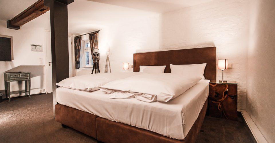 Das Zimmer Hahnenkammblick im Hotel Kahltalmühle