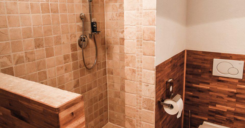 Das Bad im Zimmer Kahlaue im Hotel Kahltalmühle
